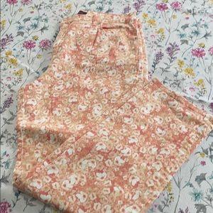 Gloria Vanderbilt Ananda jeans, pink floral, 16
